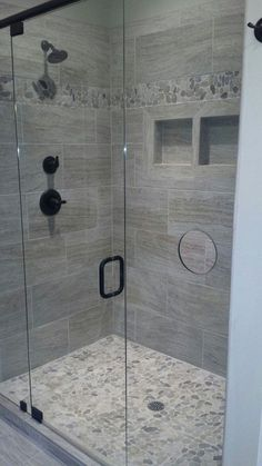 30 Popular Bathroom Shower Tile Design Ideas And Makeover. If you are looking for Bathroom Shower Tile Design Ideas And Makeover, You come to the right place. Below are the Bathroom Shower Tile Desig. Simple Bathroom, Modern Bathroom, Bathroom Mirrors, Shower Bathroom, Master Shower Tile, Bathroom Cabinets, Bathroom Fixtures, Kitchen Cabinets, Bathroom Black