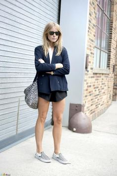9-Le-Fashion-Blog-15-Ways-To-Wear-Checkered-Van-Slip-On-Sneakers-Street-Style-Blazer-Shorts-Via-Color-Stalker