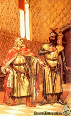 Alfonso X y su hijo Sancho IV Samurai, Spain, Statue, Painting, King Queen, Queens, Coining, Legends, Warriors