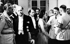 Hitler circa May 1939 in Berlin with Olga Tschechowa, Himmler and Ribbentrop.