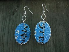 Handcrafted Upcycled Soda Can Earrings light weight by Soda2Art