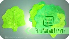 Me & My Veritas: Felt Salad Leaves / Lettuce Tutorial with Pattern.