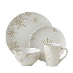 Pfaltzgraff Snowflake White Dinnerware Set  sc 1 st  Pinterest & Dinnerware Set 32 Piece Service for 8 | Kitchen | Pinterest ...
