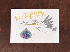 Scratch-Off Stork gender reveal cards