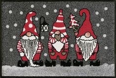 Wash+dry By Kleen-tex Fußmatte Christmas Gnome, Christmas Holidays, Color Plomo, Coir Doormat, Hazelwood Home, Timeless Design, Color Trends, Gnomes, Artsy