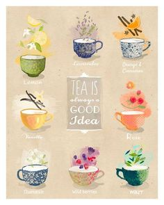 Tea is always good idea - artprint / illustration - My Cup of Tea - Decoupage, Café Chocolate, Buch Design, Tea Quotes, Tea Time Quotes, Tea And Books, Cuppa Tea, My Cup Of Tea, Tea Recipes