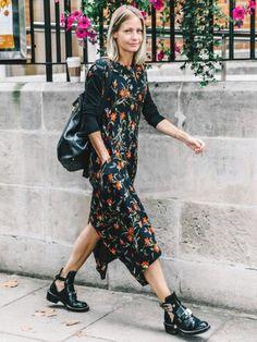 La robe noire et les boots noires by Tdm