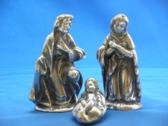 "Pewter Nativity Scene 5"" tall"