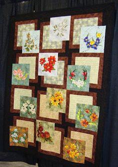 Flowers #quilt Paducah - April 2010