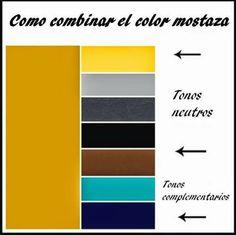 Combinaciones color mostaza