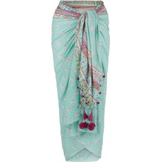 Monsoon Saffron Sarong (€34) ❤ liked on Polyvore featuring swimwear, cover-ups, skirts, cotton sarong, floral sarong, sarong swimwear, floral print swimwear and floral swimwear