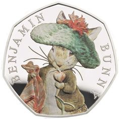 10 April Beatrix Potter's Limited Edition coins beatrixpotter peterrabitt benjaminbunny tomkitten mrstiggywinle limitededition coins theroyalmint Beatrix Potter Illustrations, Beatrice Potter, Benjamin Bunny, 50p Coin, Birthday Tags, Cottage Art, Miniature Figurines, Vintage Crafts, Peter Rabbit