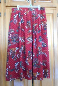 16.79$  Buy here - http://vicso.justgood.pw/vig/item.php?t=hkgqld313314 - LESLIE FAY PLEATED SKIRT FOX HUNTING PRINT WOMEN'S SIZE 18 16.79$