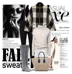 """""""Fall"""" by marjanne-mestilainen ❤ liked on Polyvore featuring AG Adriano Goldschmied, River Island, Rick Owens, Gianvito Rossi and CÉLINE"""