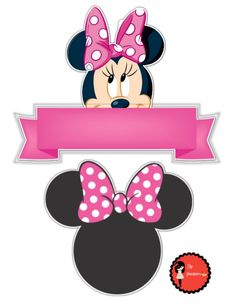 Yasmim Minnie Mouse Pics, Minnie Mouse Template, Minnie Mouse Rosa, Minnie Mouse Stickers, Minnie Mouse Clubhouse, Minnie Mouse Cake Topper, Minnie Mouse Theme Party, Mickey Mouse Parties, Minnie Mouse Birthday Decorations