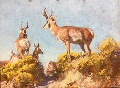 Grant Redden, Loitering Locals, 12x16 oil