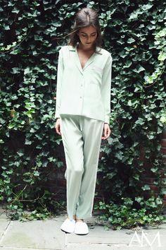 Alessandra Mackenzie Spring/Summer 2014 - BLAIR Pajama Shirt, ALLISON Side-Striped Pants
