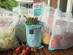 Sacs Réutilisables pour le vrac, les fruits et les légumes.