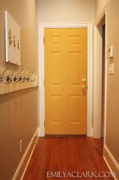 great idea to paint a random hall door a bright funky color. Chalk Paint® decorative paint by Annie Sloan Chalk Paint Furniture, Diy Furniture Projects, New Furniture, Home Projects, Furniture Makeover, Craft Projects, Annie Sloan Chalk Paint Arles, Annie Sloan Paints, Yellow Chalk Paint