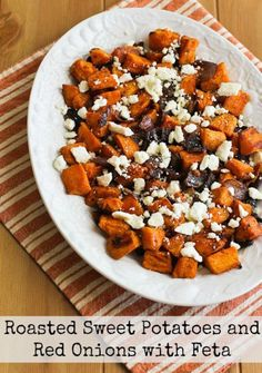 roasted sweet potatoes and red onions with feta roasted sweet potatoes ...