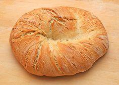 Roasted garlic bread.