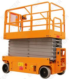14m electric scissor man lift is powered by battery. With low noise when working. More info is here:  http://sinolifter.com/self-propelled-scissor-lift/14m-electric-scissor-man-lift.html