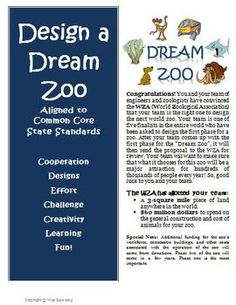 Problem Solving Design Zoo Math Challenge. Aligned to the Common Core Standards! $