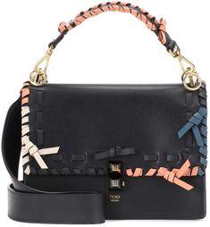 dd7e01b51c78 Fendi Kan I leather shoulder bag Blue Shoulder Bags