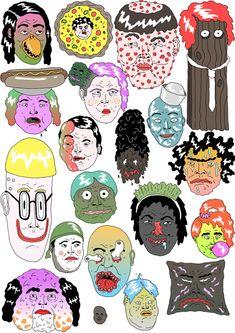 Faces - James Clapham Illustration