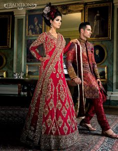 bright red wedding wear for Pakistani and Indian brides