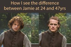great fan art regarding Jamie's aging (although his hair should be in a ponytail)!