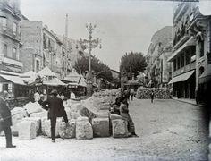 Plaza de Castelar (Rambla Méndez Núñez). Desmonte del paseo central Año: 1931