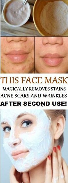 DIY: MASK WHICH REMOVES STAINS , ACNE SCARS AND WRINKLES AFTER A MINUTE USE
