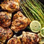 One Pan Lemon Thyme Chicken Asparagus