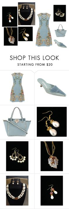 """""""just Pearls"""" by artistinjewelry ❤ liked on Polyvore featuring Alberta Ferretti, Manolo Blahnik, Valentino and modern"""