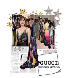 """Dakota Johnson"" by clo-egral ❤ liked on Polyvore featuring MetGala, gucci and dakotajohnson"