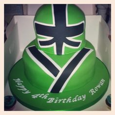 Power Ranger Birthday Cake.. So cool :) He would love it!