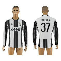 Juventus 16-17 #Pcrcyra 37 Hjemmebanetrøje Lange ærmer,245,14KR,shirtshopservice@gmail.com
