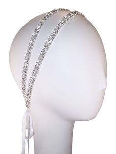 double band crystal headband
