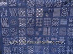 Sashiko Quilt Top - detail | por bluesquarequilting