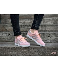 timeless design 3a5f8 31593 Adidas Gazelle W Haze Coral Clear Granite Ftwr White Womens Trainers Ladies  Black Trainers, Grey