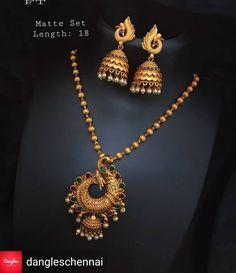 Peacock Necklace Set Gold Jewellery Design, Bridal Jewellery, Wedding Jewelry, Gold Jewelry, Peacock Necklace, Gold Pendants, Antique Necklace, India Jewelry, Simple Jewelry