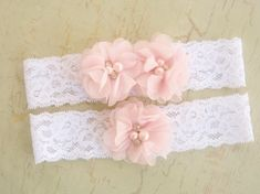 Lace Wedding Garter Ivory Garter Set with Toss by nanarosedesigns, $21.00