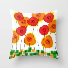 flower land Throw Pillow by sladja - $20.00 My Design, Diy Crafts, Throw Pillows, Flowers, Toss Pillows, Cushions, Make Your Own, Decorative Pillows, Homemade