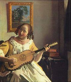 FRENCH GUITAR 17th century / Johannes Vermeer
