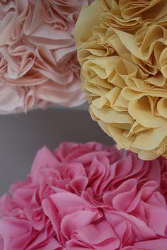 DIY fabric pom-poms