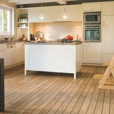 laminate flooring for kitchens at 10 Ideas of Wooden Kitchen Flooring Installation