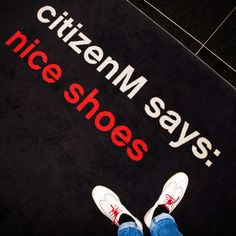 citizenM says: even our entrance carpet will give you the warmest welcome. #FootModel #citizenMnyc #Jetsetter
