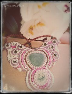 charming - pink necklace