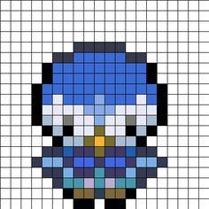 Piplup Overworld Sprite Perler Bead Pattern / Bead Sprite